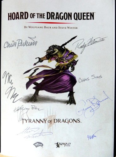 Hoard of the Dragon Queen, autographed