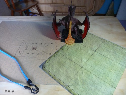 Some useful accessories: elastic tie downs, acrylic sheet or gaming mat.