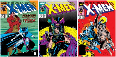 Covers of The Uncanny X-Men #256-258