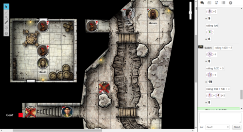 Player view of Roll20 virtual tabletop.