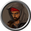 A RedBrand Ruffian token for Roll20.net